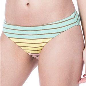 Trina Turk Lurex Striped Bikini Bottoms